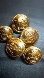 Military gold plated button
