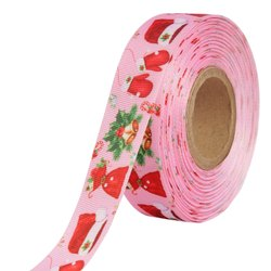 Gift Merry X Mas Ribbons 25mm/1'' Inch Gross Grain Ribbon