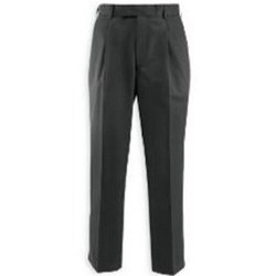 Pleated Regular Fit Mens Formal Trousers, Machine wash, Size: S-3XL