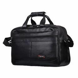 Black PU Lather Office Bag