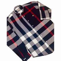 Mens Stylish Check Cotton Shirt
