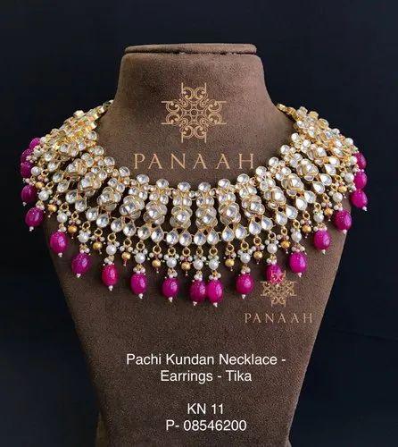 Pachi Kundan Necklace