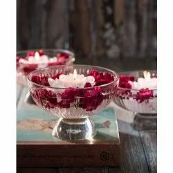 Glass Floating Candle Bowl