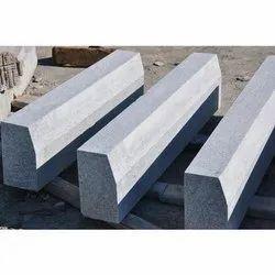 Gray Machine Cut Granite Kerb Stone