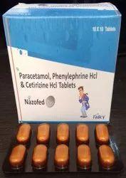 Paracetamol 500 mg  Phenylephrine 5mg  Cetirizine 5mg Tablet