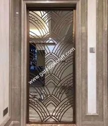 Stainless Steel Designer PVD partition Grill, For Door