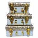 Wandcraft Exports Multipurpose Metal Trunk Decorative Jewellery Storage Organizer Box