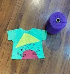 Round Half Sleeves Beaus Zany Cotton T Shirts, Size: Up to 4 Year