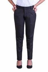 Plain Pleated Pants Women Trousers