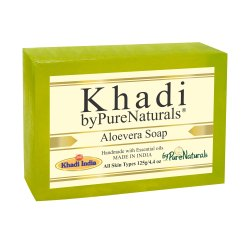 Bypurenaturals Khadi Aloevera Soap- 125g