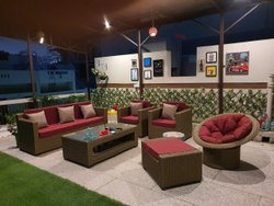 Restaurant Rattan Sofa Set