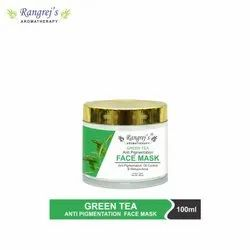 Rangrej's Aromatherapy Green Tea Face Mask For Glowing & Brightening Skin 100ml