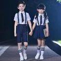 法国地形夏季儿童校服