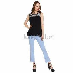 Ladies Black Sleeveless Tops