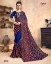 Blue Color Designer Kashmiri Work Saree