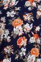 Women  Floral Printed crepe straight Kurta (Orange)