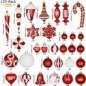 Christmas Tree Decorations Item And Hanging Light