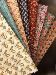 NIKUNJ Multicolor Printed Cotton Fabric