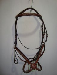 Brwon Leather Figure Eight Horse Bridle