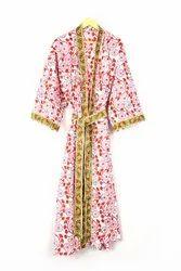 Designer Cotton Printed Kimono Robe