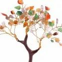 Feng Shui Natural Multicolor Healing Gemstone Crystal Bonsai Fortune Tree For Good Luck, Wealth & Pr