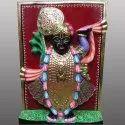 Lord Shrinath Ji Black Marble Statue