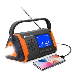 Multicolor 1 Crank Weather FM Radio, USB