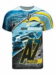 Blue Polyester Sublimation T Shirts