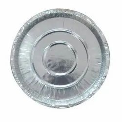 Plain 12 Inch Disposable Silver Foil Paper Plate, For Event and Party Supplies