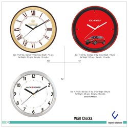 Generic Image Plastic Promotional Wall Clocks, Size: Mentioned