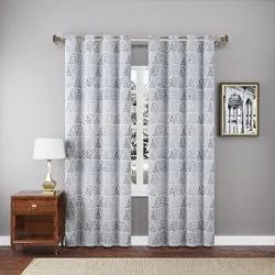 White Cotton Printed Curtains, For Door