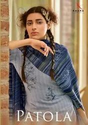 Kaara Suits Patola Pashmina With Embroidery Work Dress Material Catalog