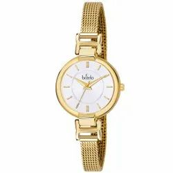 Bezelo Women Round Dial Golden Ladies Wrist Watches, Model Name/Number: LRF-152076-B