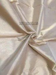 Party Wear Off White Katan Silk Tissue Plain Fabric