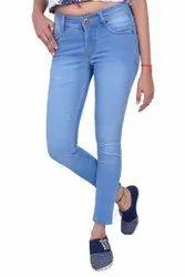 Blue Casual Wear Women Denim Jeans, Size: 28-36, Hand & Machine Wash