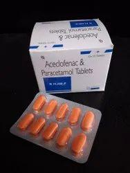 Aceclofenac 100mg & Paracetamol 325mg Tablets For Doctors,Hospitals & Nursing Homes