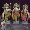 Lord Ram Darbar Gold Touch Marble Statue