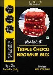Eggless Triple Chocolate Brownie Mix - Red Velvet, Packaging Type: Packet