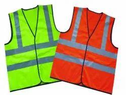 Unisex Green Reflective Safety Jackets, Size: Free Size