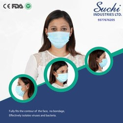 Suchi 3 Ply Surgical Mask With Ultrasonic Earloop