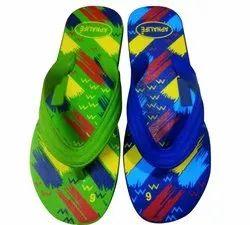 Men's Flat Rubber Hawai Slipper, Size: 4-9