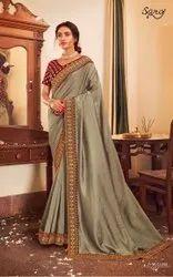 Festive Wear Vichitra Silk Saree