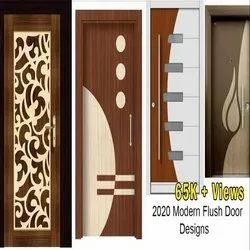 Wood Laminated Flush doors, Multi Deigns, Thickness: 34mm