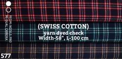 Swiss Cotton Yarn Dyed Check