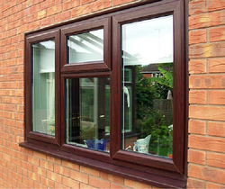 ACE BUILD Brown UPVC Combination Window, Glass Thickness: 5 Mm