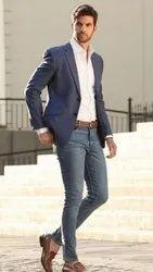 Plain Polyester Men Designer Blazer, Size: S,M and L