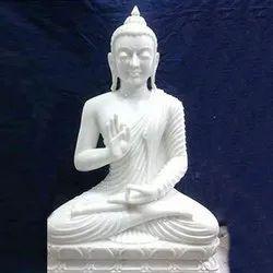 Lord Gautam Buddha White Marble Statue