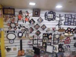 Wall Mounted MDF slatwall display, 13