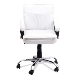 XL White Sofen Comfortable Boss Leatherette