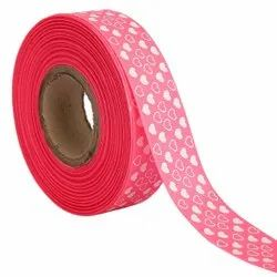 Hearts Pink Ribbons25mm/1''inch Gross Grain Ribbon 20mtr Length